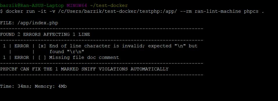 docker php cs