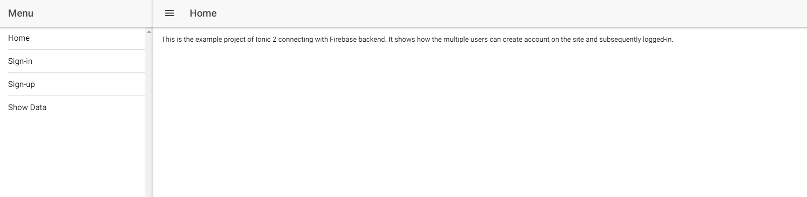Ionic 2 Forms, Validation and Integration with Firebase
