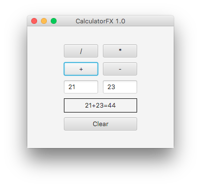 JavaFX Calculator with Java code | DiscoverSDK Blog