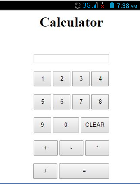 JS in Android Calculator 2
