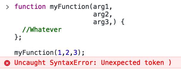 trailing comma error 0