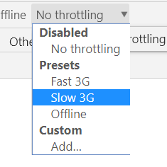 no throttling