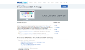 Document Viewer SDK Technology Data Binding App