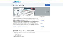 OCR SDK Technology OCR App
