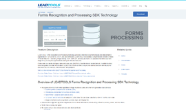 Forms Recognition and Processing SDK Technology OCR App