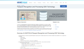 Passport Recognition and Processing SDK Technology OCR App