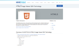 HTML5 Image Viewer SDK Technology Toolkits and HTTP App