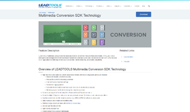 Multimedia Conversion SDK Technology Frameworks App