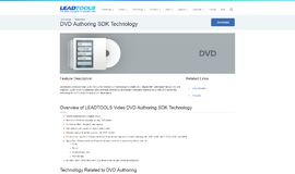 DVD Authoring SDK Technology Video and TV App