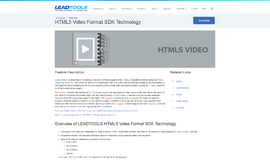 HTML5 Video Format SDK Technology Frameworks App