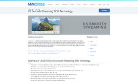 IIS Smooth Streaming SDK Technology Video and TV App
