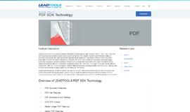LEADTOOLS PDF SDK PDF App