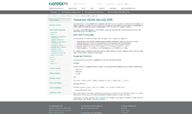 Kaspersky Mobile Security SDK Management and Security App