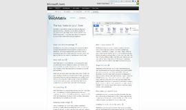 Microsoft WebMatrix WYSIWYG Tools App