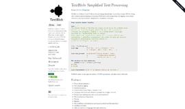 TextBlob Text Handling App
