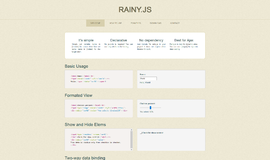 RAINY.JS Data Binding App