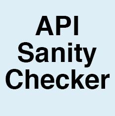 Api-sanity-checker