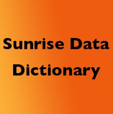 Sunrise Data Dictionary