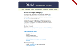 Deep Learning for Java Artificial Intelligence and Machine Learning App