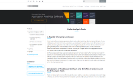 CAST Code Analysis Code Review Tools App