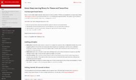 keras Testing Frameworks App