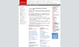 Oracle Application Testing Suite Testing Frameworks App